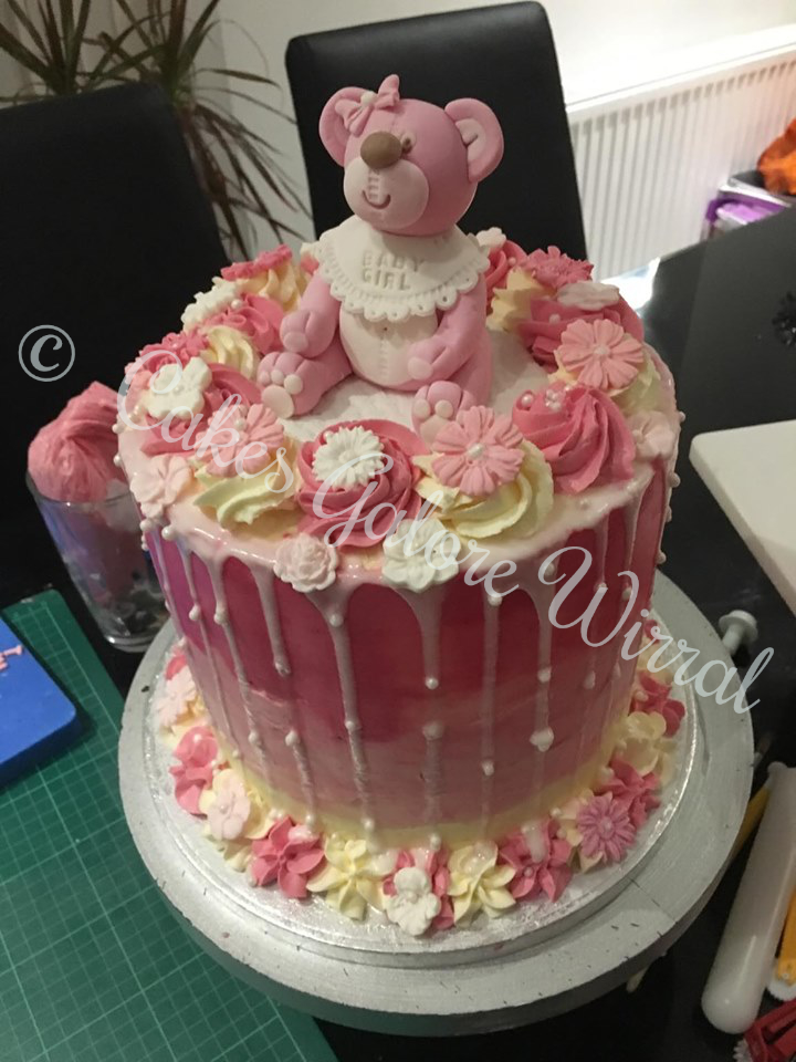 Cakes Galore Wirral -  Baby Girl Cake